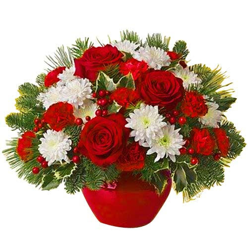 Magical Winter Bliss Christmas Floral Bouquet