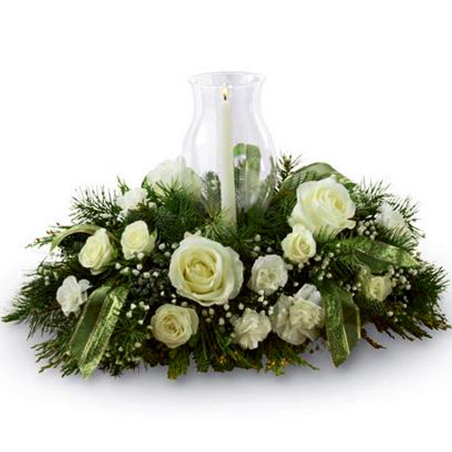 Beautiful Floral Centerpiece for Christmas Decoration