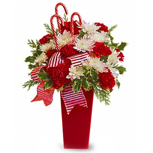 Colorful Blooms Christmas Arrangement
