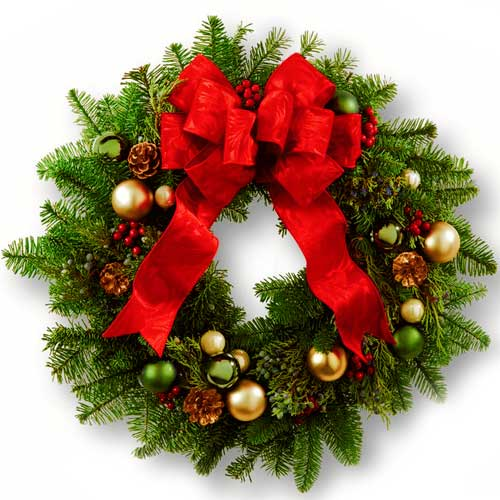 Festive Decor Holy Floral Wreath for Christmas