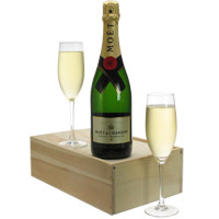 Incomparable Bottle of Champagne and Flutes Gift Set