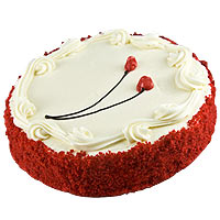 Indulgent Buttermilk Velvet Cake in Red Color