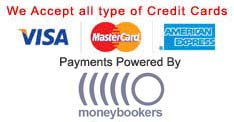 We Accept all type of Credit Cards