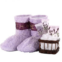 Relaxation Booties with Lavender Booties with Spa Kit
