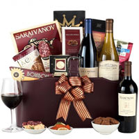 Californias Finest Wine Basket Premium Wine Trio