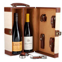 Deluxe Accessory Tote with Wine Pacific NW Wine Duo