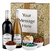 Sonoma Wine Duet with Personalized Gift Box
