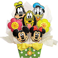 Disney Cookie Bouquet - 7 Cookies