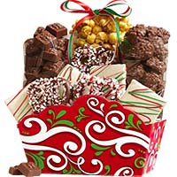 Holiday Gift Basket and Harry London Chocolates