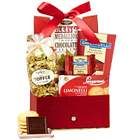 Red Keepsake Box with Sweets