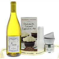 Cupcakes and Wine Gift Set