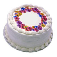 Personalized Birthday Cake - Pansy Theme