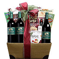 Cliffside Vineyards Red Wine Trio Gift Basket